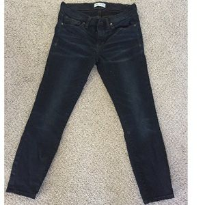 🌻Madewell skinny skinny ankle cropped jeans🌻